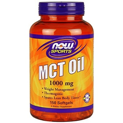 MCT Oil Softgels, 1,000 mg, 150 Count by Now [並行輸入品]