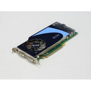 ELSA Geforce 9600GT 512MB DDR3 DVI-Ix2/TV-out GLADIAC 796GT V2/GD796-512EBGT2【中古】【送料無料セール中! ...