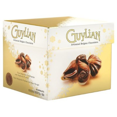 Guylian Chocolates Seashells gold cube 195g Made in Belgium [並行輸入品]