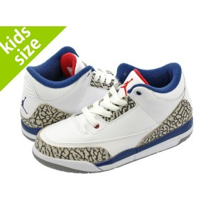 【キッズサイズ】【16-22cm】 NIKE AIR JORDAN 3 RETRO BP ナイキ エア ジョーダン 3 レトロ BP WHITE/FIRE RED/TRUE BLUE/CEMENT...