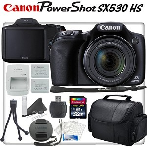 Canon PowerShot SX530 HS 16.0 MP with 50X Optical Zoom, Wi-Fi Enabled and 1080p Full HD ビデオ デジタル...