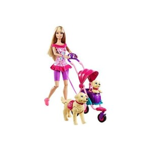 バービー人形 Barbie Strollin' Pups Set