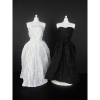 バービー 着せ替え用ドレス/服 2着セット BW1 (Set of 2 Beautiful Knee Length Dresses in Black and White Made to Fit...