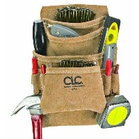 Custom Leathercraft ツールバッグ Suede Carpenter's Nail and Tool Bag, 10 Pocket