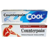 Counterpain Analgesic Balm Cream 120g. (Pack of 2 color) by Counterpain [並行輸入品]