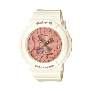 (カシオ) Casio Baby-G 腕時計 BGA131-7B2  Rose Gold and White Resin 腕時計 [逆輸入品]