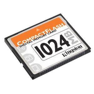 Kingston 1GB Compact Flash CFカード CF/1GB
