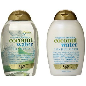 OGX Weightless Hydration Coconut Water Shampoo & Conditioner, 13 Ounce (Combo Set) [並行輸入品]