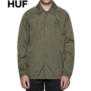 HUF Bundy Coaches Jacket Olive L コーチジャケット