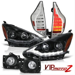 トヨタ アクア ヘッドライト NHP10 Aqua Prius C 2012-2014 Altezza Style Headlight Tail Light Fog Lamp LED DRL...