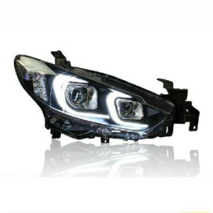 マツダ アテンザ ヘッドライト New Eagle Eyes LED DRL Bi-xenon Projector Lens Headlights For Mazda Atenza 2014...