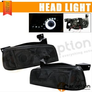 Dodge Charger ヘッドライト 05-10 Dodge Charger LED Halo Projector Headlamp Headlights Left Right Smoke 05...