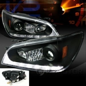 レクサス ヘッドライト 2001-2005 Lexus IS300 LED DRL Strip Projector Headlights Black (2006 LOOK) 2001...