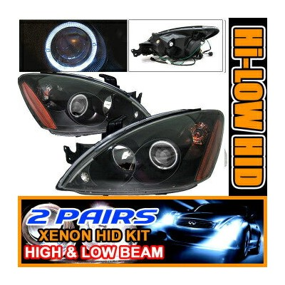 Mitsubishi Lancer ヘッドライト 2 Sets HID 04-06 Lancer CCFL Halo Projector Headlights 2セットは04-06ランサーCCFLヘイ...