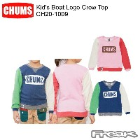 CHUMS チャムス CH20-1009 Kid's Boat Logo Crew Top キッズボートロゴクルートップ  ※取り寄せ品