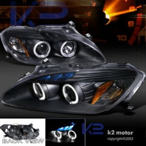 ホンダ S2000 ヘッドライト For 2004-2009 Honda S2000 Halo LED Projector Headlights Black 2004-2009ホンダS2000ヘイロー...