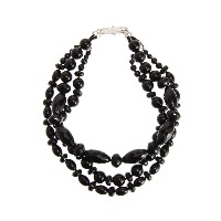 【Theory】Kong qi Black Stone Necklace 形状の異なるストーンを使用した三連ネックレス。 その他 大人 セオリー