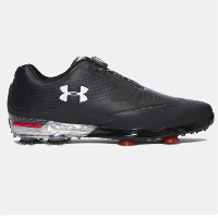 Under Armour Tour Tips BOA Golf Shoesメンズ Black/Red アンダーアーマー ゴルフシューズ