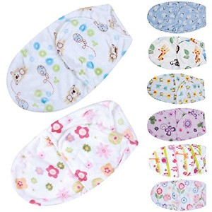 LuxBene(TM)Baby Swaddle Wrap Polar Fleece Fabric Envelopes Soft Blanket Swaddling Baby Sleepsack...