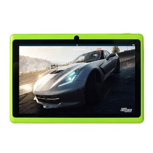 YUNTAB(JP)7インチタブレットPC Q88 tablet  クアッドコア Android 4.4 1024*600 google play/WIFI(緑)