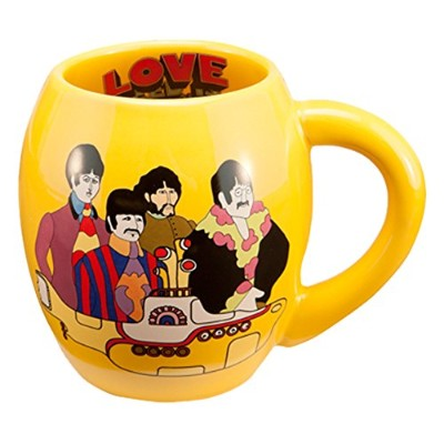 Vandor 73062 The Beatles Yellow Submarine Oval Ceramic Mug, 18 oz, Yellow by Vandor