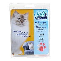 Feline Soft Claws Cat Nail Caps Take-Home Kit, Small, Pink by Soft Claws