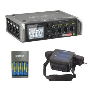 Zoom F4 Multitrack フィールド Recorder キット with PCF-8 プロテクティブ ケース, 4 AA Batteries & Charger 「汎用品」(海外取寄せ品)