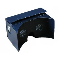 Mi3D-328 VR ブラックカードボードビューアーコンプリートキットMi3D Virtual Reality Black Cardboard Viewer Complete Kit -...