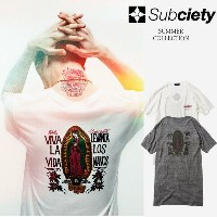 SUBCIETY サブサエティ Tシャツ V NECK TEE S/S-Guadalupe- 102-40034