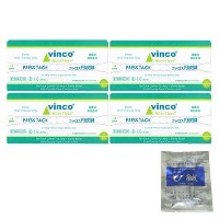 vinco ファロス円皮鍼 (100本入) 太さ0.18mm×針長1.1mm x4箱 + 日本薬興 神洲 ひ鍼 (2針入り)