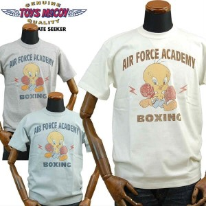 TOYS McCOYトイズマッコイ ミリタリーTシャツ TWEETY「AIR FORCE ACADEMY BOXING」TMC1707