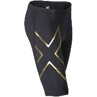 2XU メンズ サイクリング スポーツ 2XU Elite MCS Compression Short Black/Gold