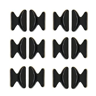 Haobase Nose Pads 6 Pairs 1.8MM Non-slip Silicone Nose Cushions for Eyeglasses (Black) by Haobase