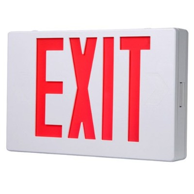All-Pro APX6R, AC Only, White Housing, LED Exit, Red Letters by All-Pro Emergency