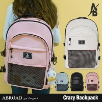 【ABROAD正規品】エービーロード Crazy Backpack (Pink White Black Blue)