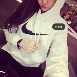 14103 # handsome two-color fleece hoodie thick section