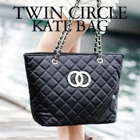 Twin Clrcle Kate Shopping Bag/レディスバッグ/ 結婚式 OL用 / ポーチ/バッグ/High Quality/HOLLYWOOD STYLEブランドレベルの品質...