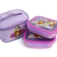 ★ディズニー ソフィア 弁当 / Sofia 2 tier rectangle stainless lunchbox / Disney Sofia lunch box with based