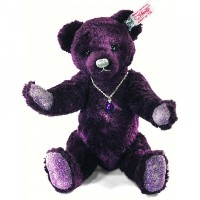 Steiff 035159 シュタイフ ぬいぐるみ テディベア Limited Edition Amethyst Teddy Purple Silk Plush 25cm