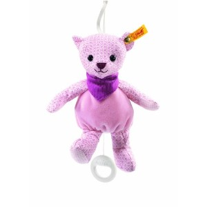 Steiff 238154 シュタイフ ぬいぐるみ テディベア 20cm Little Circus Teddy Bear Music Box for Newborn (Pale Pink)