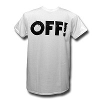 OFF バンドTシャツ オフ Logo on White M black flag