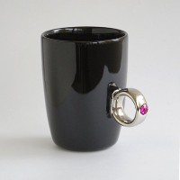 Floyd Cup Ring フロイド カップリング [ Black x Silver ピンク ] マグカップ