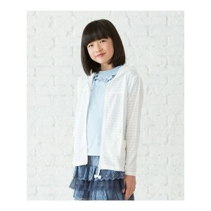 【SALE/40%OFF】3can4on(Kids) シースルーボーダーパーカー サンカンシオン カットソー【RBA_S】【RBA_E】