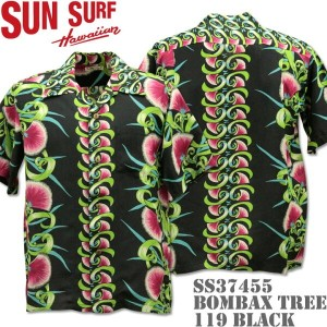 SUN SURF(サンサーフ)アロハシャツ HAWAIIAN SHIRT『BOMBAX TREE』SS37455-119 Black
