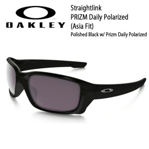 OAKLEY オークリー サングラス Straightlink ストレートリンク PRIZM Daily Polarized (Asia Fit) Polished Black w/ Prizm...