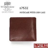 S7532 2つ折り財布 アンティークブライドルレザー が復活☆ 正規販売代理店Whitehouse Cox NOTECASE WITH COIN CASE / ANTIQUE BRIDLE...