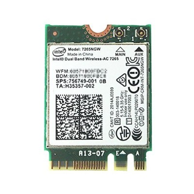 インテル Intel Dual Band Wireless-AC 7265 デュアルバンド 2.4/5GHz 802.11ac/a/b/g/n 最大867Mbps + Bluetooth 4.0 M...