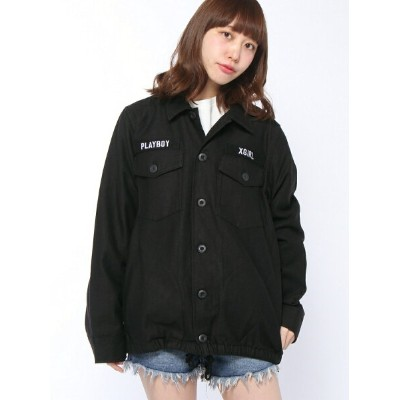 【SALE/35%OFF】X-girl X-girl x PLAY BOY BDU JACKET エックスガール コート/ジャケット【RBA_S】【RBA_E】【送料無料】