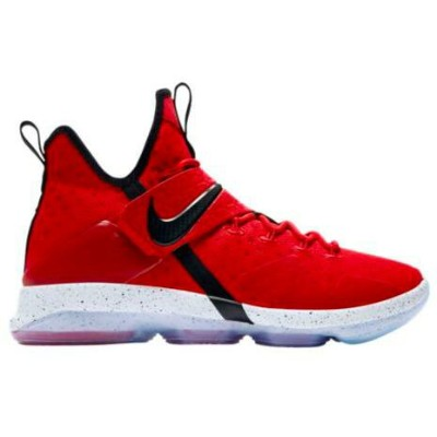 "Nike LeBron 14 XIV GS ""Red Brick Road"" キッズ/レディース University Red/Black/Bright Crimson/Met Gold ナイキ..."