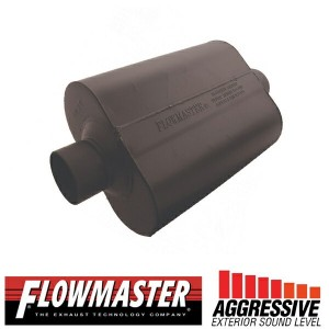 FLOW MASTER スーパー 40 マフラー - 3.00 Center In / 3.00 Center Out - Aggressive Sound
